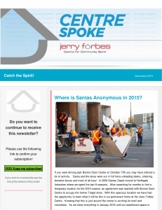 December 2015 - Centre Spoke E-News